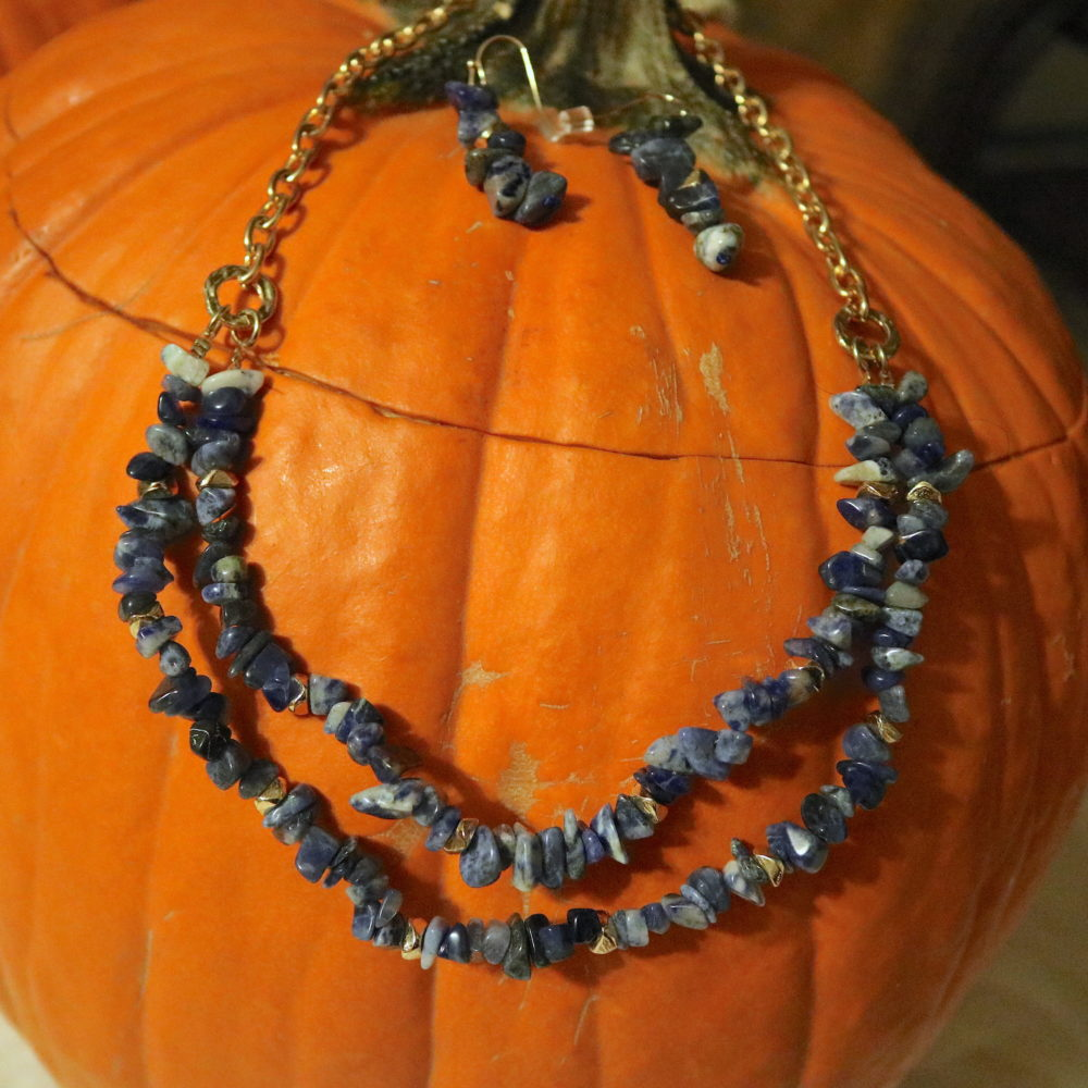 Wisdomkeeper Sodalite Necklace & Earrings Set