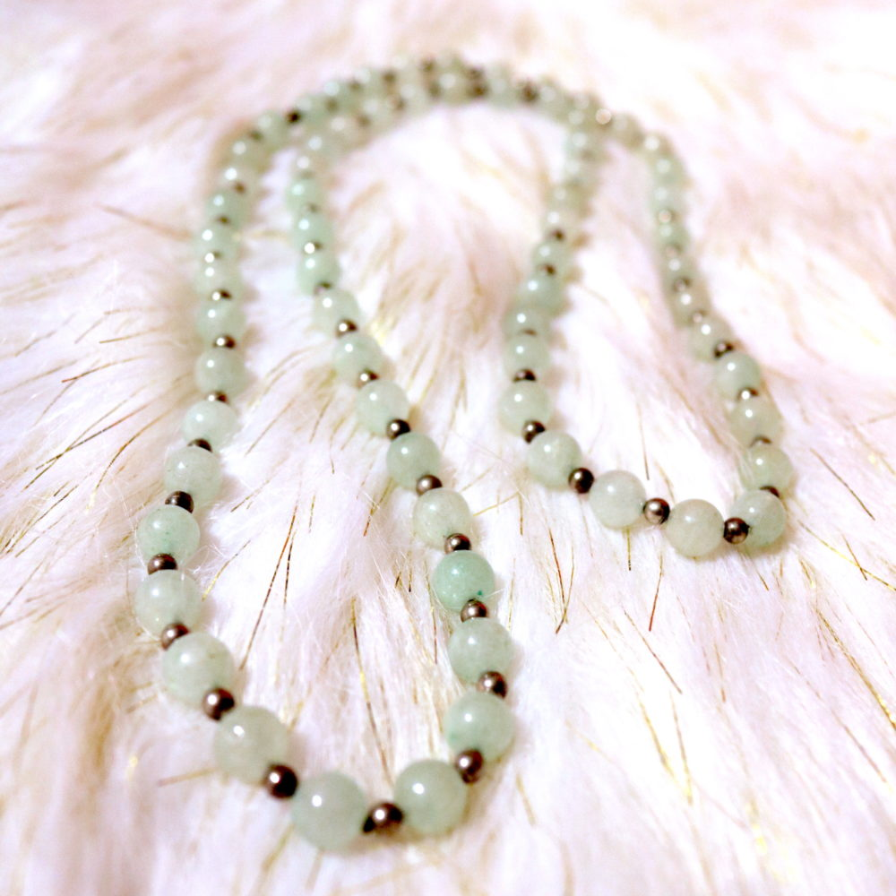 CHANCE Aventurine Opera Necklace (1960s)