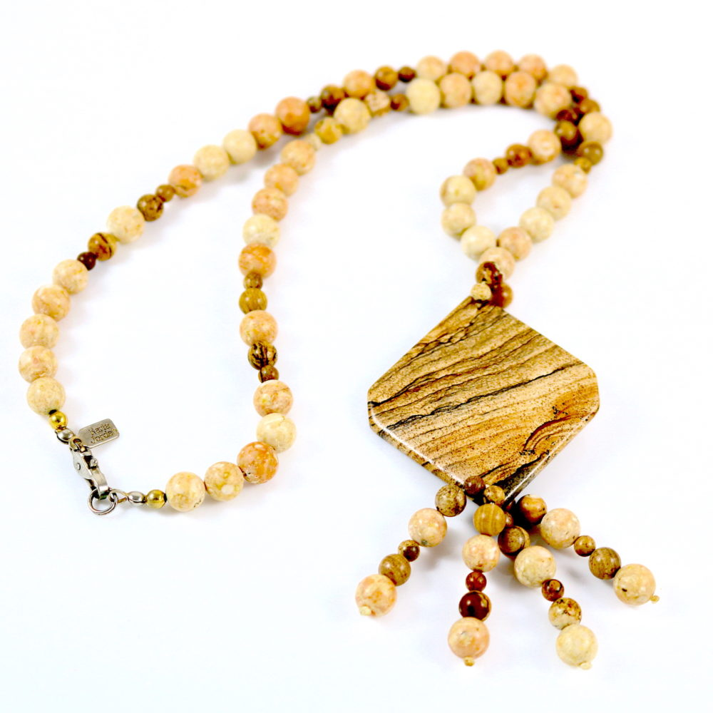 Jasper Necklace by Karla Jordan (1970s-80s)