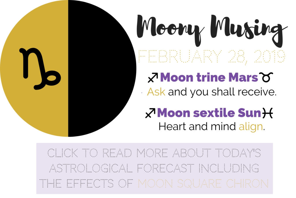 February 28, 2019 Moony Musing – Laurien Rose