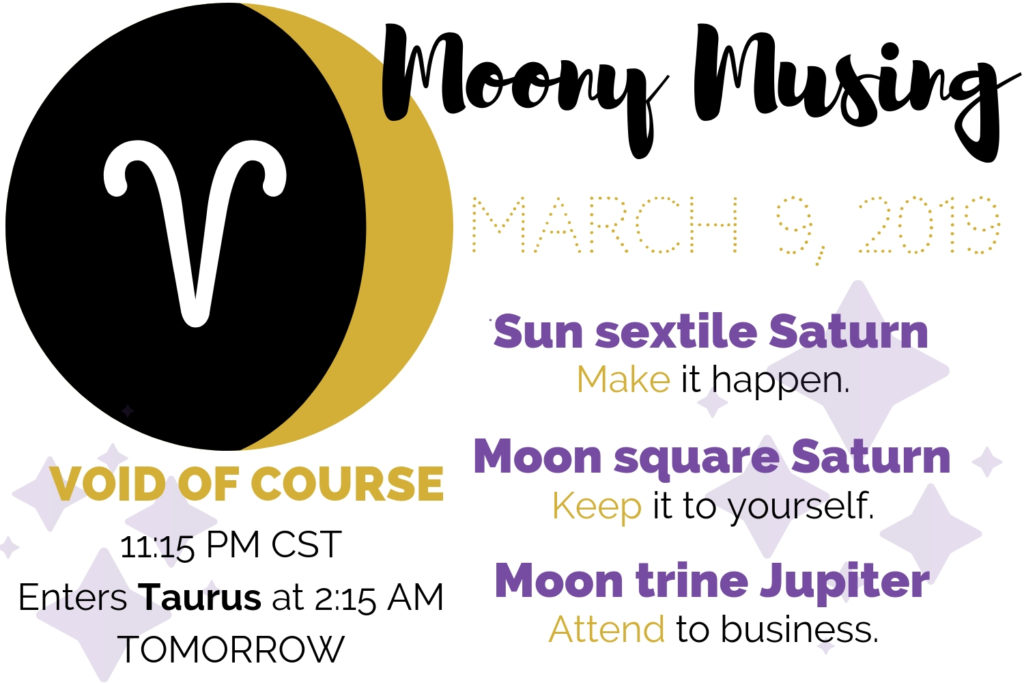 March 9, 2019 Moony Musing – Laurien Rose
