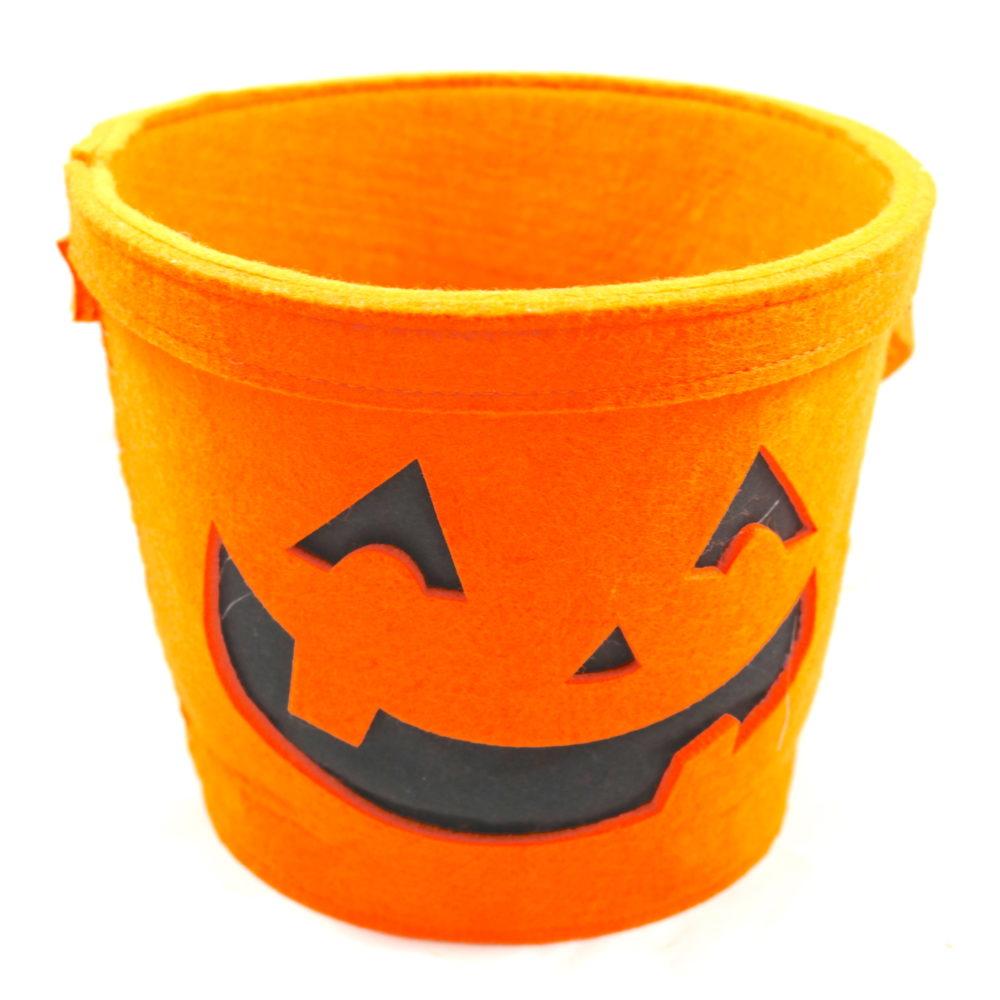 Sturdy Felt Jack-O'-Lantern Bucket