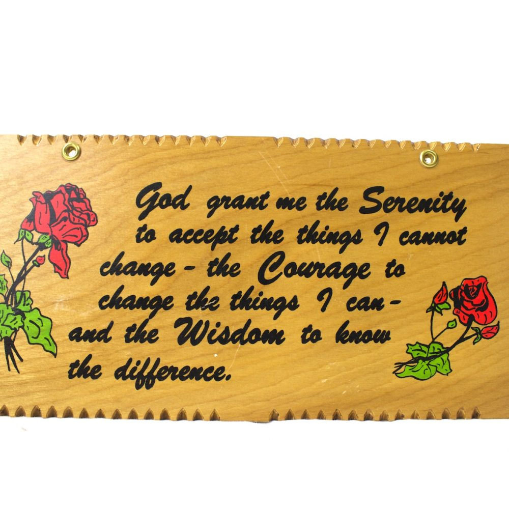 Serenity Prayer Wooden Plaque